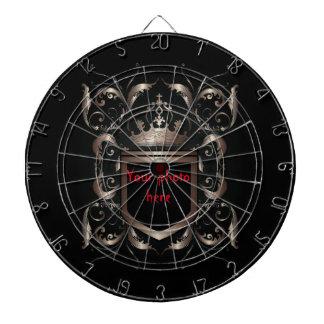 Medieval armorial bearings dartboard