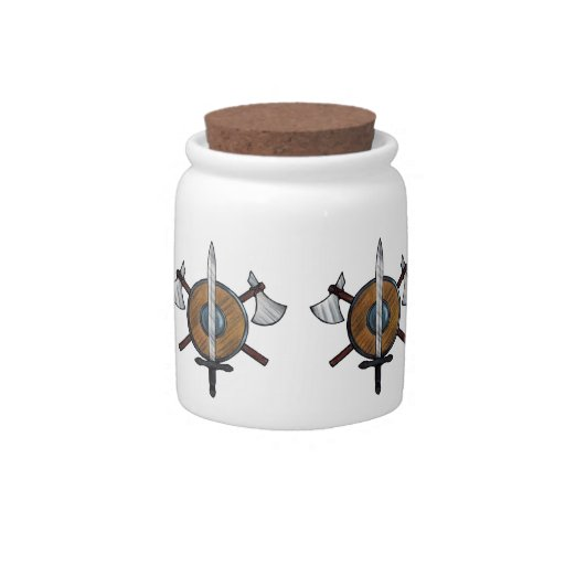 Medieval Arms Candy Jars