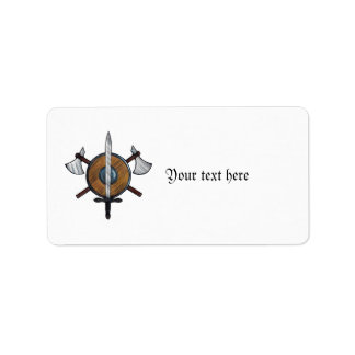Medieval Arms Custom Address Labels