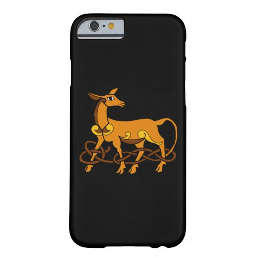 Medieval Art Celtic Knot Brown Deer Barely There iPhone 6 Case