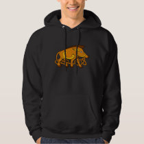 Medieval Art Celtic Knot Wild Boar Hoodie