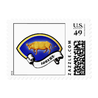 Medieval Astrological Zodiac Sign Bull (Taurus) Postage