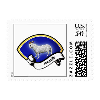 Medieval Astrological Zodiac Sign Ram (Aries) Postage