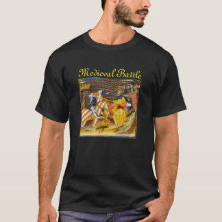 MEDIEVAL BATTLE, FIGHTING KNIGHTS HORSEBACK T-Shirt