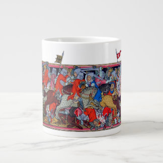 Medieval battle large coffee mug