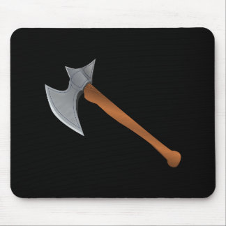 Medieval Battleaxe Mouse Pad