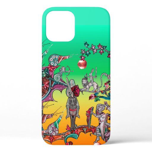 MEDIEVAL BESTIARY WAR, KNIGHTS,GIANT SNAILS Green iPhone 12 Case