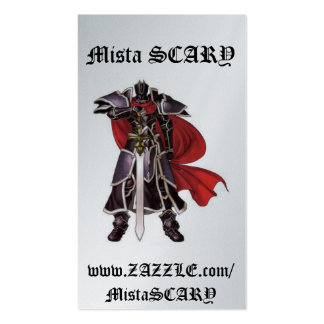 Medieval Black Knight Sword Profile Card - Custom Business Card Template