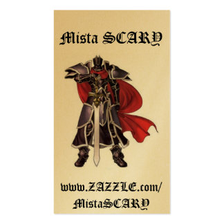Medieval Black Knight Sword Profile Card Custom Business Card