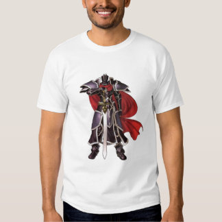 Medieval Black Knight with Sword T-shirt