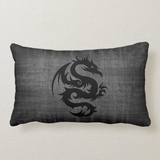 Medieval Black Velvet Cushion