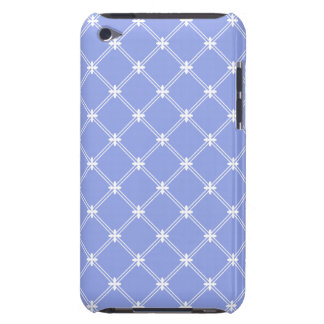Medieval Blue and White Diamond Pattern Barely There iPod Case