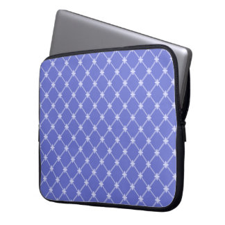 Medieval Blue Diagonal Pattern 15 Inch Computer Sleeve