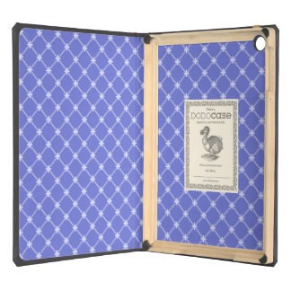 Medieval Blue Diagonal Pattern iPad Air Cases