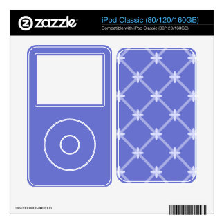 Medieval Blue Diagonal Pattern Decal For iPod
