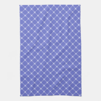 Medieval Blue Diagonal Pattern Hand Towel