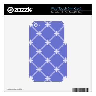 Medieval Blue Diagonal Pattern iPod Touch 4G Skin