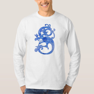 Medieval Blue Glass Dragon T-Shirt
