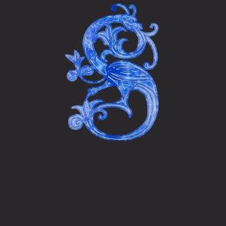 Medieval Blue Glass Dragon shirt