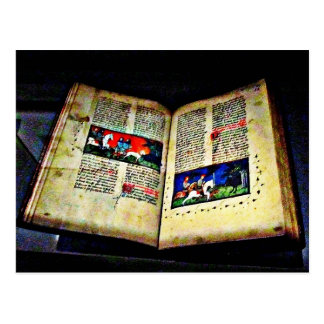 Medieval Book CB Postcard