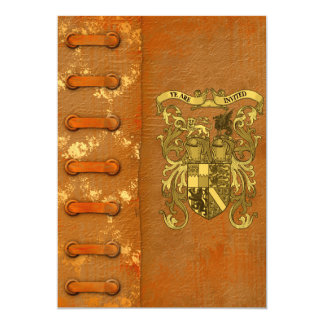 Medieval Book Cover Save The Date Card