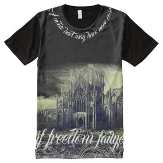 Medieval Braveheart Black All-Over-Print Shirt