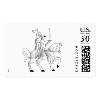 Medieval Bride And Knight Postage
