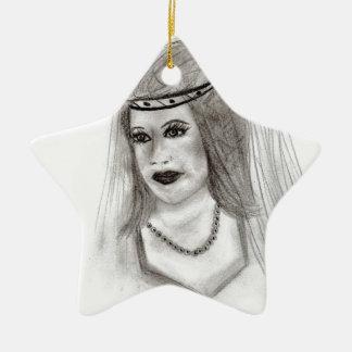 Medieval Bride Ceramic Ornament