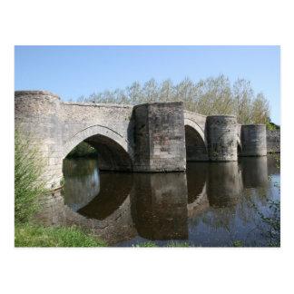 Medieval bridge postcard