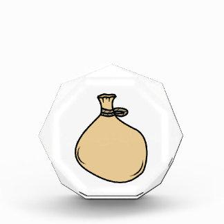 Medieval Brown Sack Bag Acrylic Award