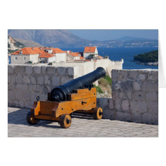 Medieval Cannon in Dubrovnik Card