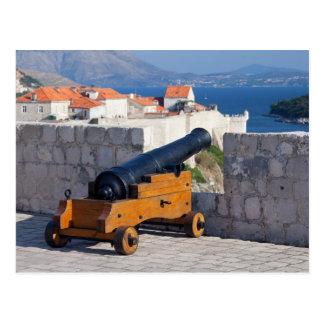 Medieval Cannon in Dubrovnik Postcard