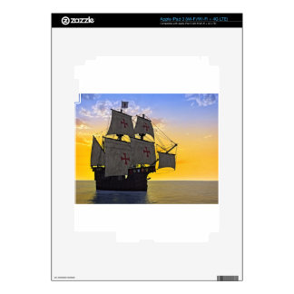 medieval carrack at sunset skins for iPad 3