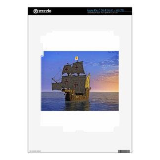 Medieval Carrack at Twilight iPad 3 Decals
