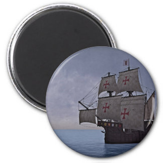Medieval Carrack Becalmed Magnet