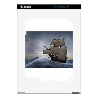 Medieval Carrack in the Storm iPad 2 Skins