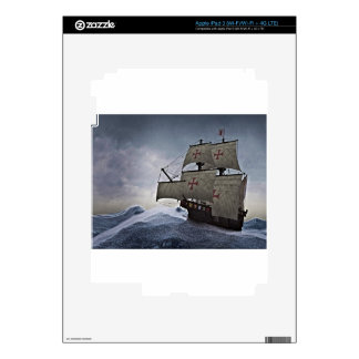 Medieval Carrack in the Storm iPad 3 Skins