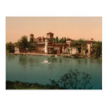 Medieval Castle and Market Town, Turin, Italy Postcard