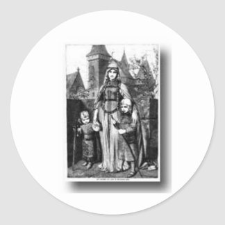 Medieval Castle Classic Round Sticker