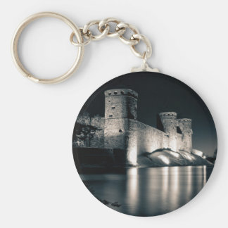 Medieval castle keychain