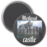 Medieval Castle king queen royal 3 Inch Round Magnet