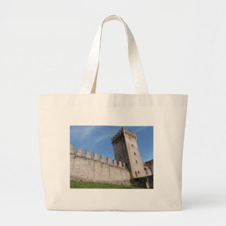 medieval castle knights ancient old antique brick jumbo tote bag