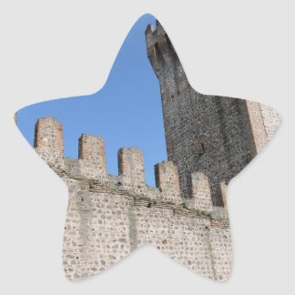 medieval castle knights ancient old antique brick star sticker