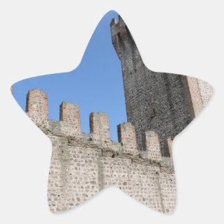 medieval castle knights ancient old antique brick star sticker