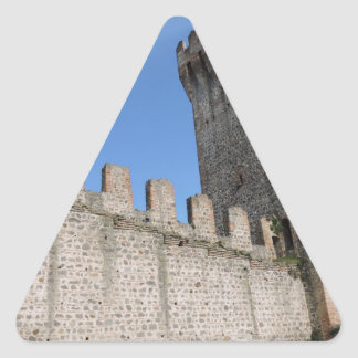 medieval castle knights ancient old antique brick triangle sticker
