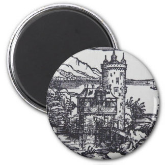 Medieval Castle 2 Inch Round Magnet