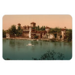 Medieval Castle  Market Town, Turin, Italy Flexible Magnet