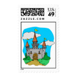 Medieval Castle Save The Date Postage Stamp