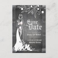 Medieval Celtic Bride Stone Wedding Invitation