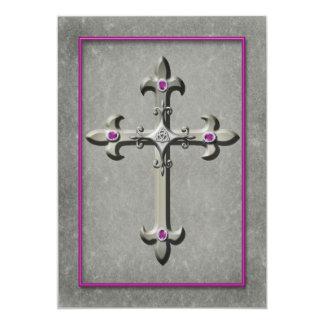 Medieval Celtic Cross Wedding Invitation